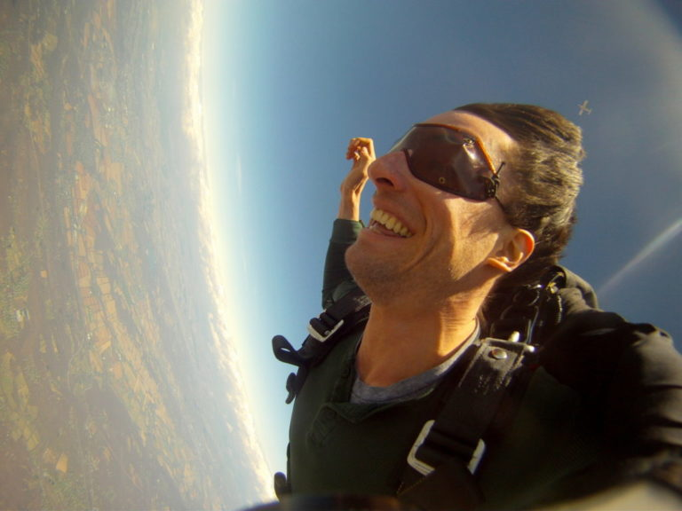 Jason McMahon skydiving by Muffy Jason