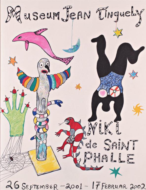 Poster of Niki de Saint Phalle's exhibiton at Jean Tinguely Museum
