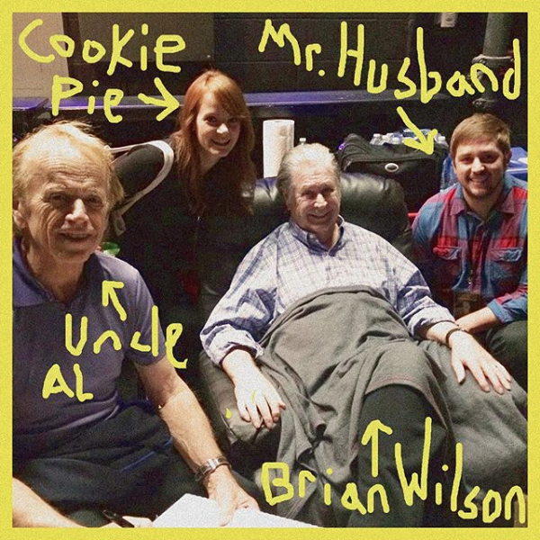 Mr. Husband with Brian Wilson and Al Jardine from the Beach Boys