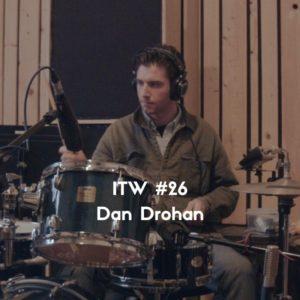 Interview of drummer Dan Drohan by Marc Louis-Boyard for Slow Culture - Picture by Emile Bertherat